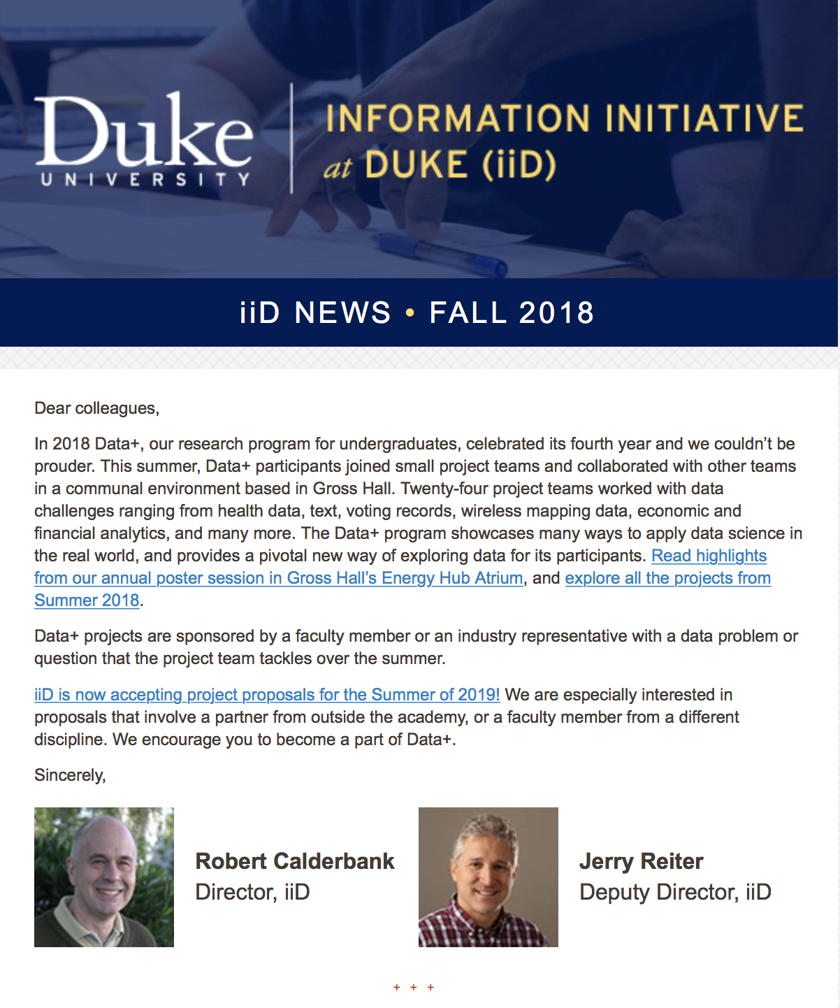iiD Newsletter Fall 2018